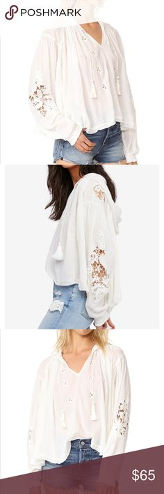 🆕FREE PEOPLE HOODED TOP FREE PEOPLE TROPICAL SUMMER HOODED TOP NEW WITH TAGS 🔥HOT ITEM-MY FAVORITE🔥 SIZE MEDIUM(MULTIPLE) COLOR IVORY MADE OF SOFT GAUZE 100% COTTON LACE ACCENTS, LONG SLEEVES, RAW HEM, GATHERED ELASTIC CUFFS,FRONT KEYHOLE SEMI SHEER VERY LOOSE AND COMFORTABLE (I WEAR LARGE AND FIT EASILY IN THE MEDIUM OR SMALL FOR SMALLER LOOK) 🔥GREAT WITH JEANS, SHORTS,SKIRTS,PANTS, OVERALLS🔥 *NO TRADES NO RETURNS* Free People Tops