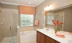 Illusion Frameless Shower Enclosure Shown In Lennar's Bainebridge Estates (Jacksonville, FL) http://cst.al