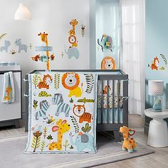 Flapjack the giraffe and his friends make the Dena Happi Jungle collection from Lambs & Ivy a sweetly sunny space for your little one.