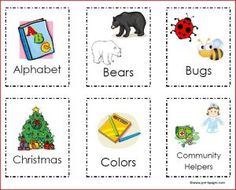 Printable Book Box Labels from Pre-K Pages