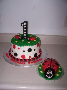 lady bug birthday | Ladybug 1st birthday cake — Children's Birthday Cakes