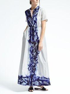Piece & Co. Sun-Dyed Silk Maxi Shirtdress  #afflink