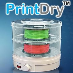 It's finally here!  The PrintDry filament dryer is designed to actively reduce the water content in a filament.  Most 3D printing filaments (ABS, PLA, PETT, PC and Nylon) are hygroscopic materials, which have a strong affinity for moisture. Eliminate moisture from your filaments PrintDry now available in Canada Exclusivly through Filaments.ca