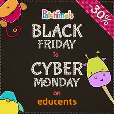 We are on #SALE!  #Blackfriday is here: 30% off in all our products! #abc #numbers // Desceunto en todos nuestros productos 30%  #education #educational #worksheets #cybermonday #discount #holidays #teachers #parents #kids #printables #bilingual #educents