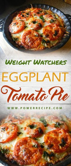EGGPLANT TOMATO PIE - All about Your Power Recipes Cooking Brussel Sprouts, Light Diet, Cooking Light, Chicken, Meat, Ethnic Recipes, Food, Eten, Hoods