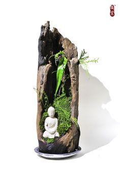 Bonsai Micro landscape plant Stone Buddha