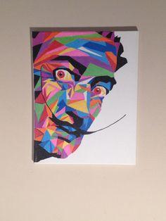 Dali portrait sharpie paint.