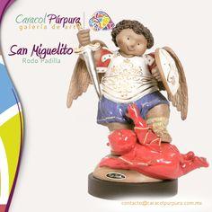 San Miguelito Arcangel. Rodo Padilla. Disponible para su venta en Caracol Púrpura
