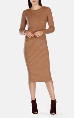 CABLE KNIT MIDI DRESS