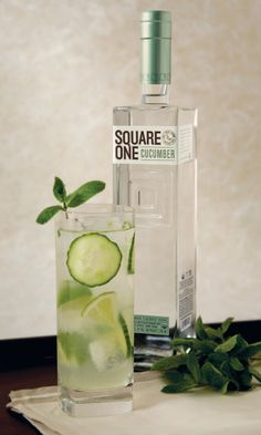 Toast to Summer with Certified Organic Vodka. Square One. #Cocktails http://www.organicspamagazine.com/blog/toast-summer-certified-organic-vodka/#