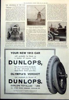 Print Wolseley Car Holland Windmill Sheffield Simplex Chassis N E C Car 1912 830 | eBay