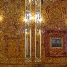 The Eighth Wonder of the world. The reconstructed Amber Room at the Catherine Palace, Pushkin, Russia ... during my tour with Viking River Cruises