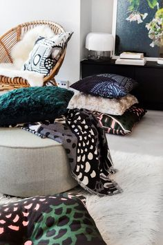 Marimekko Home — Coterie Cushion Covers, Pillow Covers, Cushions, Pillows, Marimekko, Pantone, Furniture Design, Sweet Home, Warm