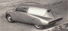 OG | 1946 Wimille Prototype | Jean-Pierre Wimille était un pilote français qui plancha sur un prototype présenté au Grand Palais en 1946. La voiture était révolutionnaire : chassis tubulaire, caisse aérodynamique, 3 places de front, direction centrale, moteur arrière, boite semi-auto, pare-brise panoramique. Pour adapter sa voiture aux contraintes de production, il signa avec Ford France. 2 modèles de pré-série furent présentés en 1948 mais Wimille décéda en 1949 et le projet fut abandonné.