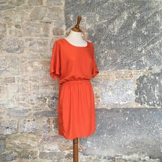 Beautiful dress by using Atelier Brunette's crepe viscose fabric. Viscose Dress, Viscose Fabric, Crepes, Crepe Fabric, Couture, Slow Fashion, Beautiful Dresses, Creations, Short Sleeve Dresses