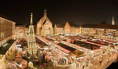 Nuremberg, Germany - Europes biggest, and Germany's most famous Christmas market. Thousands of visitors from all over the world visit the market every year.