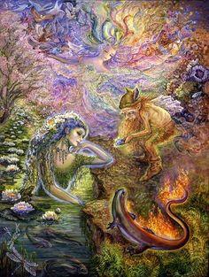 Fantasy art by Josephine Wall