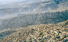 No space wasted: Sprawling Mexico City, Mexico, population 20 million, density 24,600/mile (63,700/square kilometer), rolls across the landscape, displacing every scrap of natural habitat