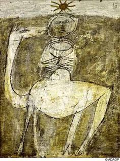 "Jean Dubuffet 1947 Art Brut ""It Flute On The Bump"" - Jean Dubuffet was a trained artist who had an appreciation for what was considered low or crude art and had a tendency to work in a similar manner, especially early in his career."