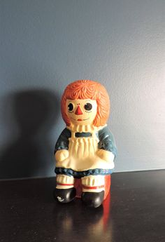 Vintage ceramic Raggedy Ann money bank/vintage Raggedy Ann collectible figurine/vintage money bank for children/Raggedy Ann collectible by TroveCanada on Etsy