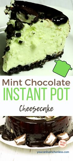 Everyone loves mint chocolate right? We adapted an easy instant pot cheesecake recipe, and drenched it in a chocolate ganache, and topped it off with yummy chocolate mints! Cheesecakes made in a pressure cooker are just. Mint Chocolate Cheesecake, Chocolate Mints, Mint Oreo, Chocolate Ganache, Chocolate Recipes, Instant Pot Cheesecake Recipe, Cheesecake Recipes, Instapot Cheesecake, Easy Desserts