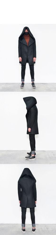 Super Big Hood Double Neoprene Coat-Coat 63 - GUYLOOK