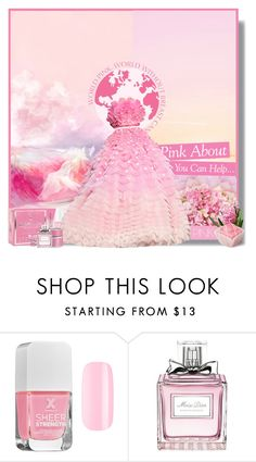 """I Wear Pink for..."" by jleigh329 ❤ liked on Polyvore featuring OPI, Cada, Formula X, Smashbox, Kipling and Christian Dior"