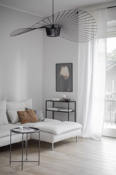 Interior Design New linen curtains in our living room Living Room Decor Curtains, Living Room Colors, Living Room Modern, My Living Room, Home And Living, Minimal Living Rooms, Black And White Living Room Decor, White Rooms, White Curtains