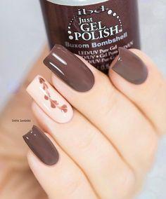 Beige To Brown Nails - 45 Classy Nail Art Ideas Classy Nail Art, Classy Nail Designs, Elegant Nails, Stylish Nails, Cool Nail Art, Trendy Nails, Cute Nails, Purple Nail, Ombre Nail