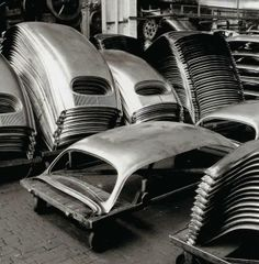 VW Oval parts at the factory