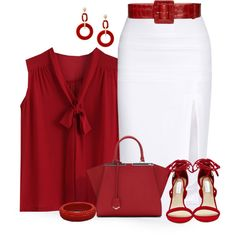 A fashion look from August 2015 featuring Cushnie Et Ochs skirts, Steve Madden sandals and Fendi handbags. Browse and shop related looks.