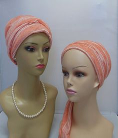Soft Summer Peaches & Cream Turban Scarf Soft Jersey for by myscap  Wears like a scarf, fits like a turban. Soft as a baby's blanket.   Over 100 Scarf-Turban available.