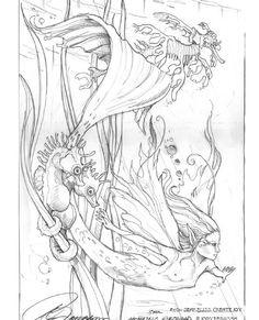Enchanted Designs Fairy & Mermaid Blog: Free Fairy & Mermaid Coloring Pages by Jody Bergsma by Kirsten Davies