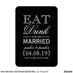 Save the Date | Eat Drink And Be Married