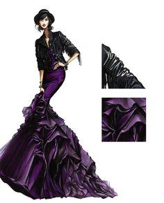 Evening Purple - Fashion Finishing School Illustration