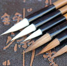 Pack 3 Manuscript Sable Hair Calligraphy Brush Set