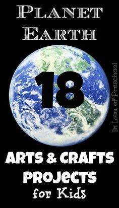 Planet Earth Crafts for Earth Day - lots of great fine motor practice - In Lieu of Preschool
