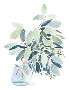 Silver Leaves In Vase // Caitlin McGauley