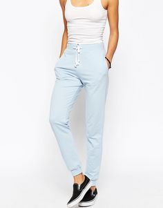 Image 4 of ASOS Lightweight Joggers with Contrast Tie