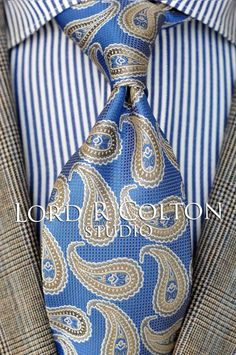 Lord R Colton Masterworks Pocket Square Charter /& Navy Blue Check $75 New