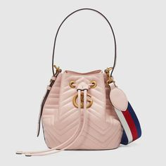 GUCCI Gg Marmont Quilted Leather Bucket Bag. #gucci #bags #shoulder bags #leather #bucket #
