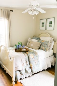 cozy, neutral bedroom | Ashley Bosnick
