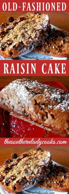 Old Fashioned Raisin Cake is wonderful for breakfast with coffee or for dessert with fruit on top. I love this raisin cake with butter