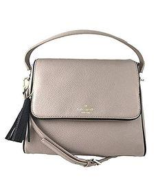 Kate Spade Chester Street Miri Pebbled Leather Crossbody Bag Shoulder Purse Handbag in Almond Black