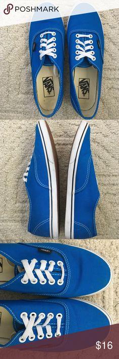 Vans shoes Vans blue classic sneaker. Women US size 9. Worn twice. Vans Shoes Sneakers