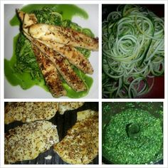 Spinach Pesto Pasta With Paprika Grilled Chicken Recipe — Dishmaps