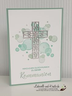 Get Well Cards, Stamping Up, Faith, Frame, First Holy Communion, First Communion, Invitation Birthday, Thanks Card, Stampin Up