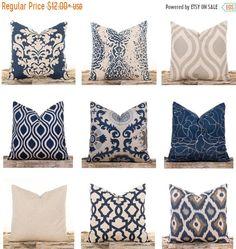 Navy Throw Pillows Burlap Pillow Covers Lattice by LilyPillow Navy Pillows, Burlap Pillows, Couch Pillows, Accent Pillows, Decorative Pillows, Floral Pillows, Moodboard Interior, Navy Blue Couches, Cricut