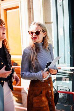 De beaux souvenirs / Street Style / Paris Fashion Week #pfw #streetstyle #streetfashion De beaux souvenirs