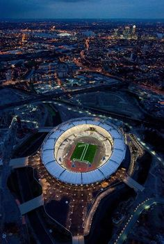 One Year Out - Olympic Stadium Lights The London 2012 Olympic Stadium is...    ... illuminated to mark '1 year to go to the Olympic Games'. These exclusive photos show the number one mown into the grass in the Olympic Stadium to start the celebrations for the '1 year to go' milestone. © Anthony Charlton/LOCOG via Getty Images